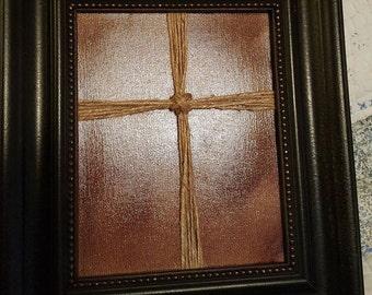 Framed Jute Cross