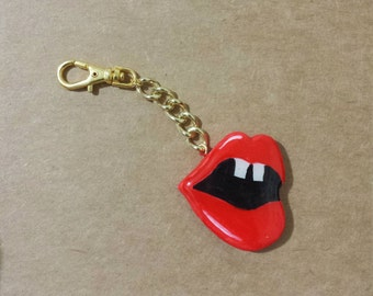 Red Lips Charm