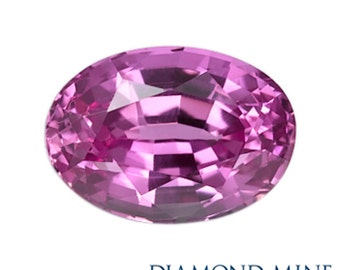 A Beautiful NaturalSapphire 1.37 Pink Oval Extra