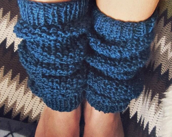Organic Wool Leg Warmers - Boho Leg Warmers - Custom Colors - Boot Toppers - Hippie - Custom Colors Knit Legwarmers - Gift for Her