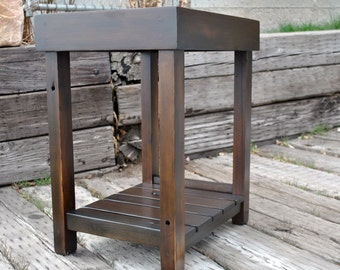 Rustic End Table Reclaimed Wood Salvaged Sofa Table Western Rustic Decor