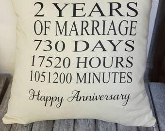 2nd Anniversary Cushion,Anniversary Gift,Gift