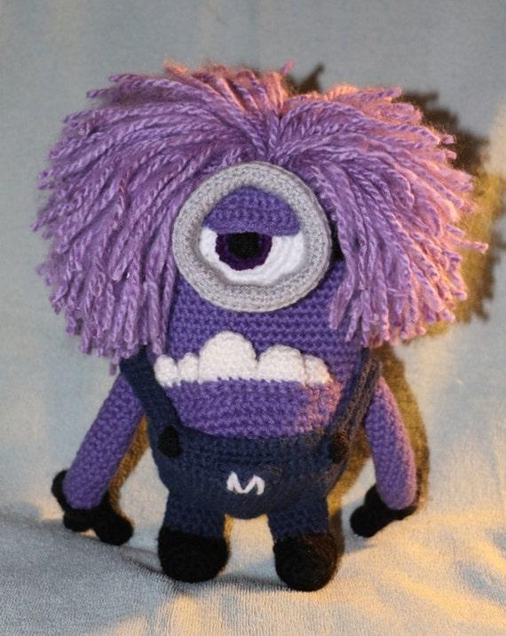 Evil Minion Handmade Amigurumi Crochet Minion