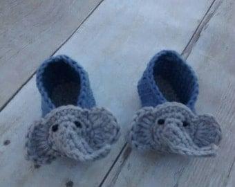 Elephant baby shoes Etsy