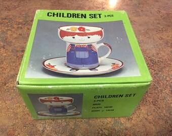 Vintage Intepur 3 Piece Children's Stackable Set