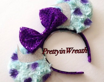 Sulley inspired Mickey Mouse ears headband