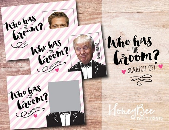 Who has the Groom? Scratch off Bridal Shower Game. Funny Bridal Shower ...