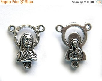 SALE 5 Silver Rosary Connectors