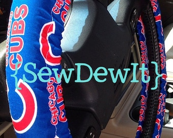 Steering Wheel Cover Chicago Cubs MLB Pro Baseball Cubbies Red White Blue Cute Trendy Car Accessories Gift for Him Gift for Her