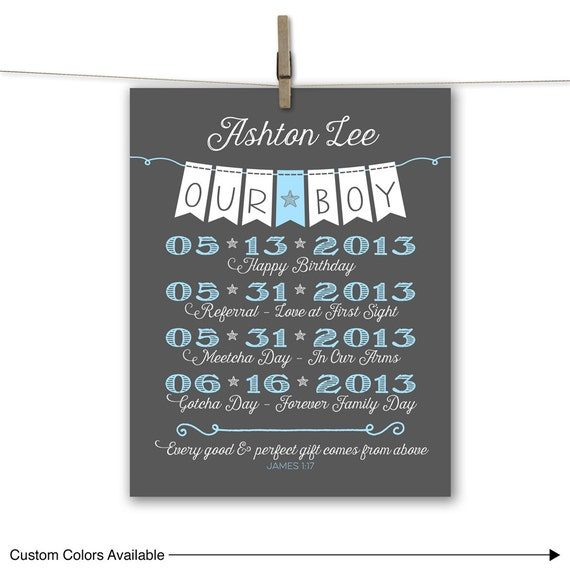 Baby Gift Ideas For Adoption : Custom adoption gift ideas gifts for baby boy by