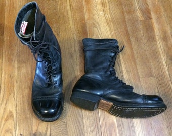 Sz 10 1950's Paratrooper Jump Boots Vintage Combat Boots