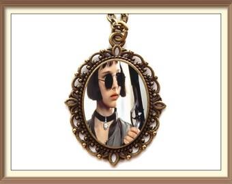 Léon The Professional Inspired Cameo Necklace / Mathilda / Natalie Portman / 90s / Leon / Hitman