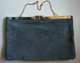 Gray Suede Evening Bag by Etra - 4865