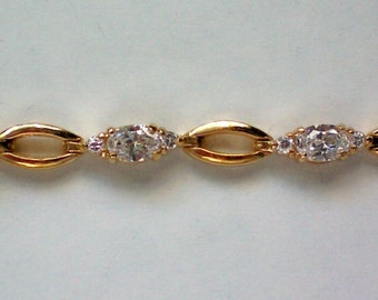 Diamond Cut Crystal Link Bracelet by Roman - 4400