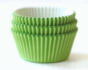 Solid Yellow Green Cupcake Liners