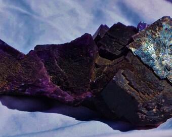 "101x ELMWOOD FLUORITE Ultra Rare Purple Calcite Carthage Closed-Mine Large 5.4"""