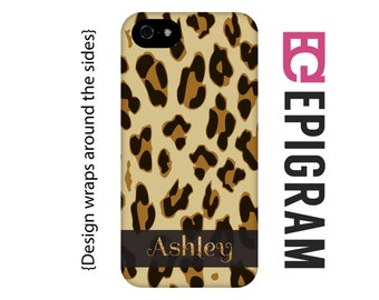 Personalized iPhone 6s case, leopard print iPhone case, animal print iPhone case, iPhone 6 case, iPhone 6 plus case, iPhone 5s case