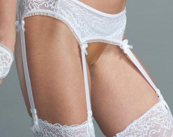White Garter Belt - Bridal Garter - Bridal Lingerie