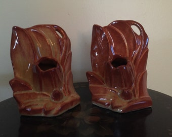 Nelson McCoy Tulip Bookends 1940's