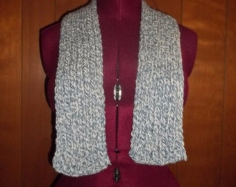 Light Blue and White Scarf