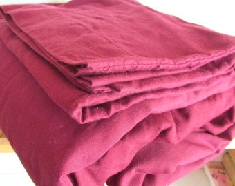 CLEARANCE  Wine Color Set of Twin Sheets with Pillowcase Cotton Blend Very Soft Love the Color