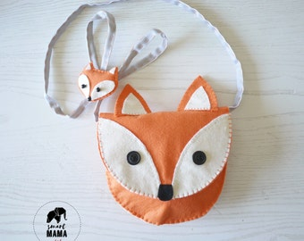 felt Fox brooch-handbag girl