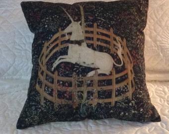 Unicorn Linen Pillow