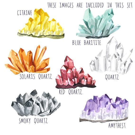 Crystal Clusters, Clip art Gemstones, Crystal Clipart ...