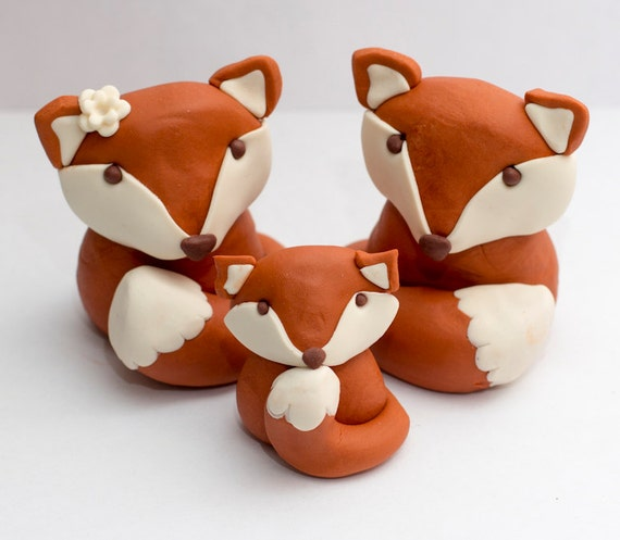 how to make a fox fondant cake topper