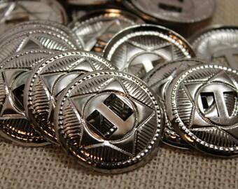 Large Silver Star Conchos (6 pieces)