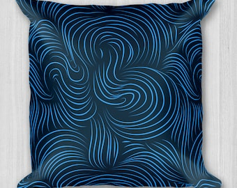 BLUE WAVE Accent Pillow