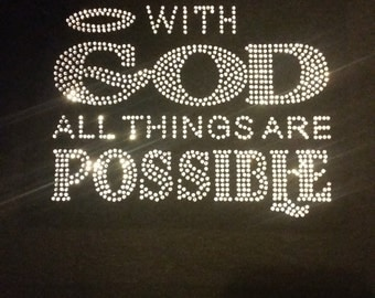 SALE-With God All Things Are Possible