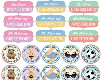 Teacher Personalized Stickers