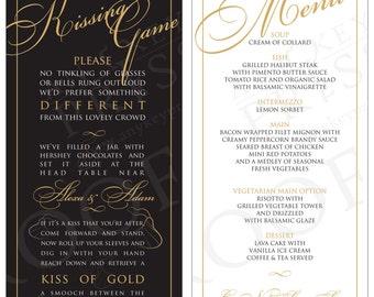 Kissing Game/Custom Menus