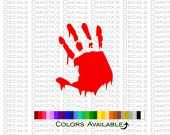 Bloody Hand Decal
