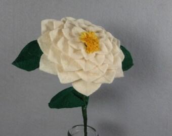Off-White Camellia Made-To-Order - Felt Camellia - Fake Camellia - Artificial Camellia - White Flower - Felt Flower - Artificial Flower