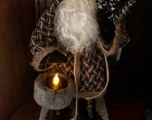 Handmade primitive santa