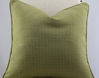 Designer pillow cover with piping, accent pillow,throw pillow,decorative pillow,lumbar pillow,same fabric on front and back.