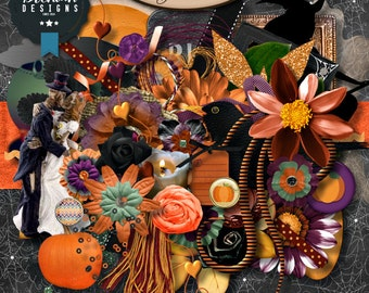 Scrapbook:  Digital, Halloween, Bewitch Me Elements Set