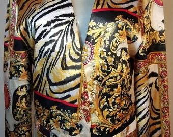 FREE  SHIPPING   Silk Versace  Blazer