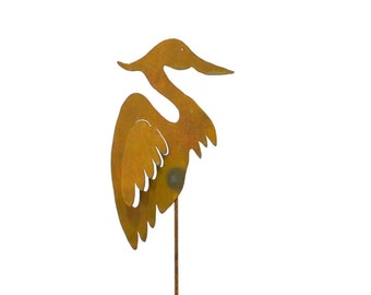 Heron Metal Garden Stake, Yard Art GS27