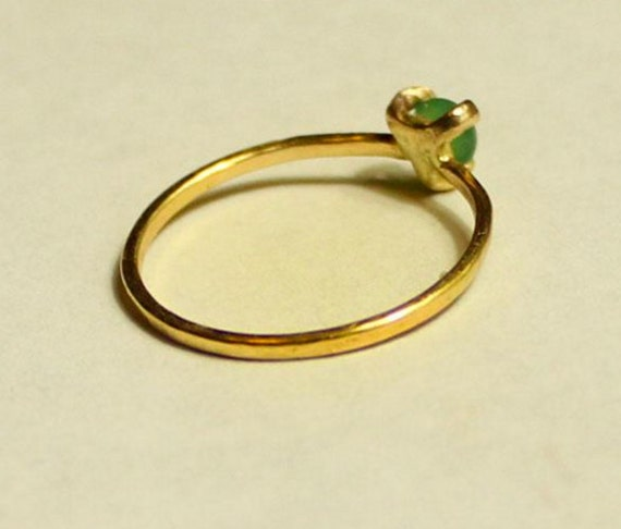 18k gold natural jade ring engagement ring by donatellajewelry. Black Bedroom Furniture Sets. Home Design Ideas