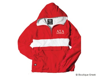 ASA Alpha Sigma Alpha Classic Letters Anorak Jacket