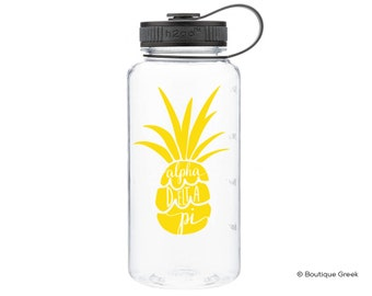 ADPi Alpha Delta Pi Pineapple Water Bottle