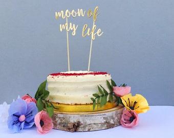 Moon of My Life Cake Topper / Wedding Cake Topper / Game of Thrones Wedding / GOT Fan / GOT Cake Topper / Gold Wedding Decor / Geek Cake Top