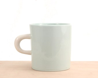 slip-cast porcelain young mug