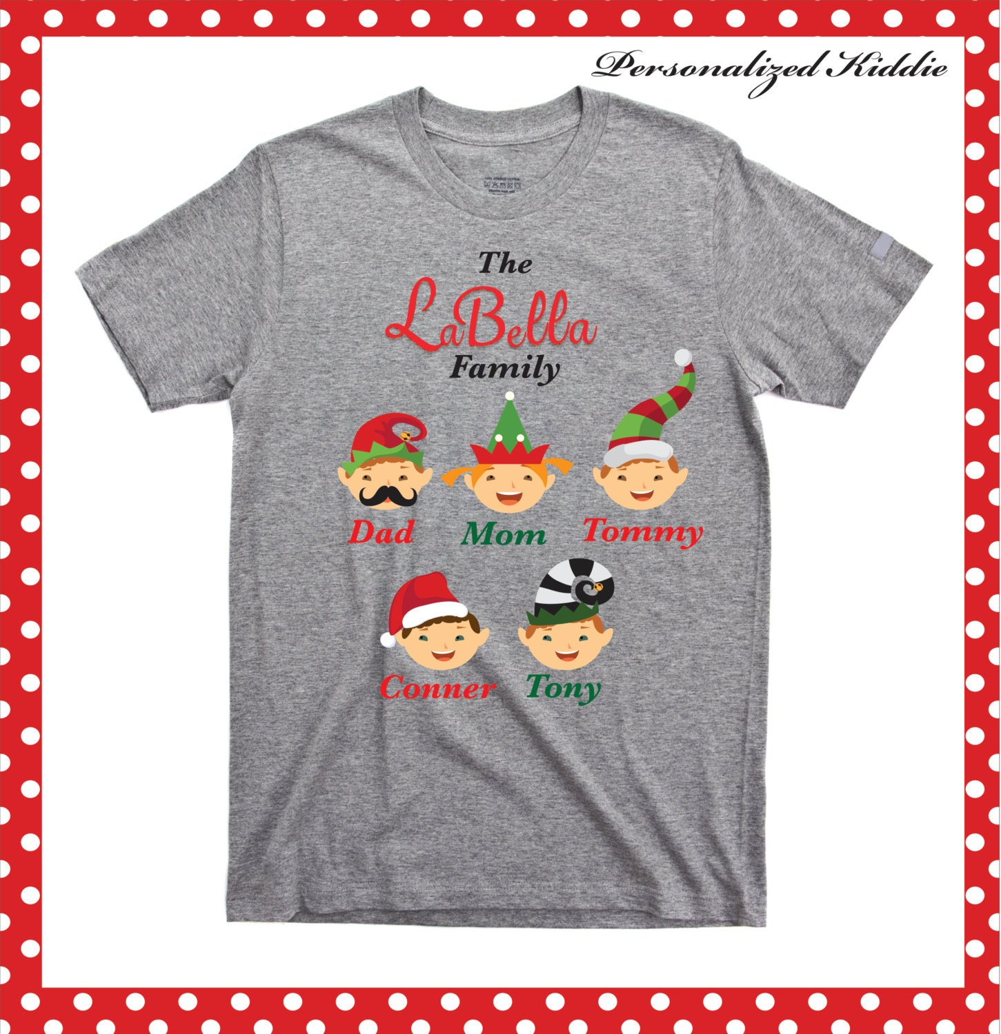 Personalized Christmas Family T Shirt Personalized Elves