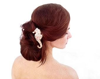Seahorse Wedding Hair Jewelry / Hair Pin