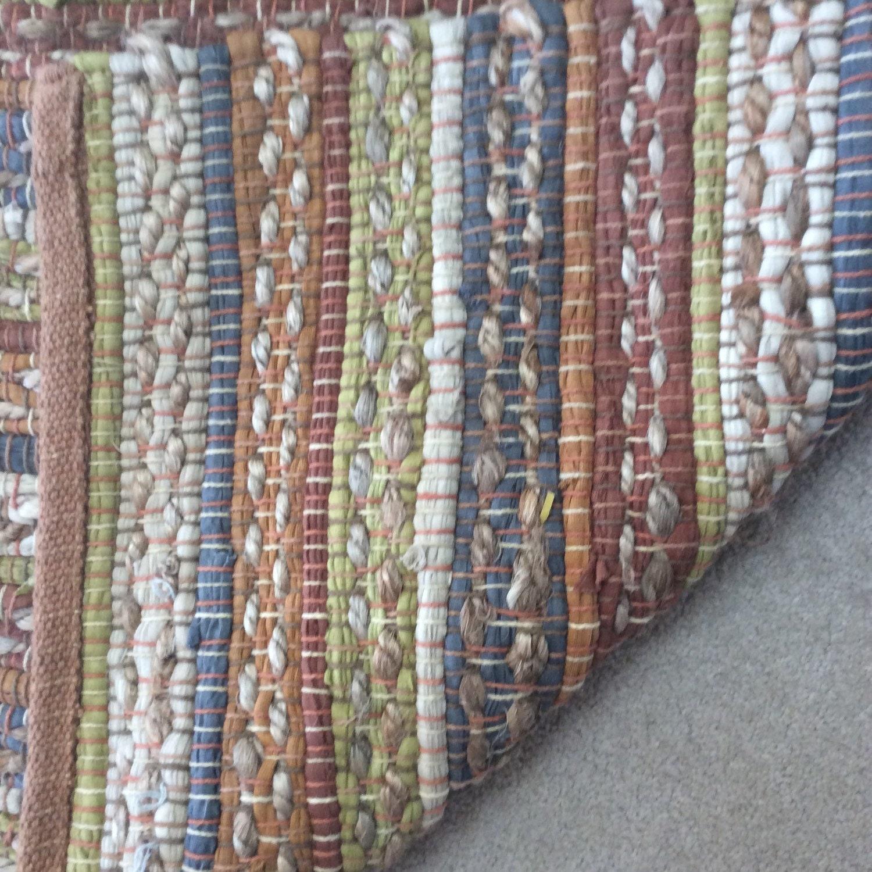 Handwoven Jute Rug Indoor Outdoor Area Rugs Blue Gray Hemp