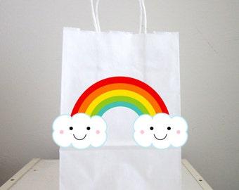 Rainbow Goody Bags, Rainbow Favor Bags, Rainbow Gift Bags, Rainbow Goodie Bags (26171035P)